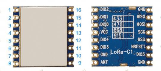 Cihaz Lora modülasyonu ve LoraWan protokolü ile EU-868 Mhz frekans bandı ve 20db çıkış gücüne sahiptir, 868 Mhz ve 915Mhz merkez çıkış frekanslarına sahiptir.