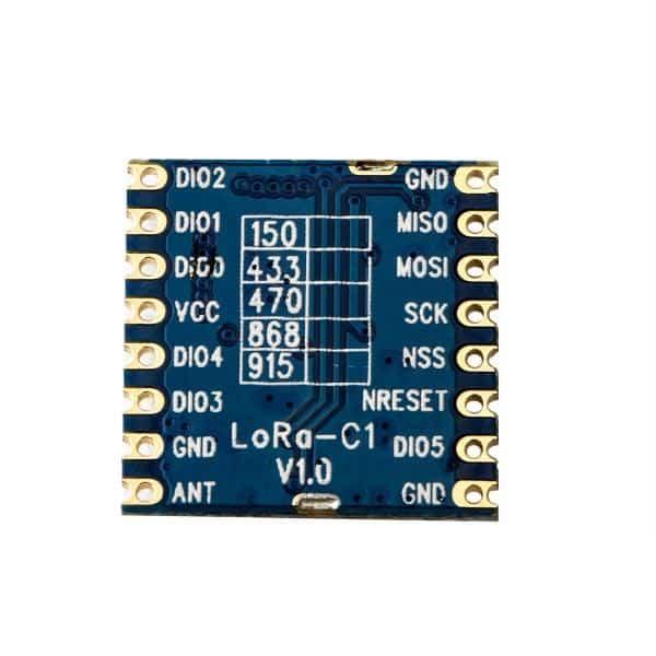 LoRa1262 kablosuz modülü, yüksek hassasiyetli bir TCXO kristal osilatör, Ultra düşük alma akımı ve uyku akımı ve -148dBm hassasiyet kullanan Semtech'in SX1262 cihazı