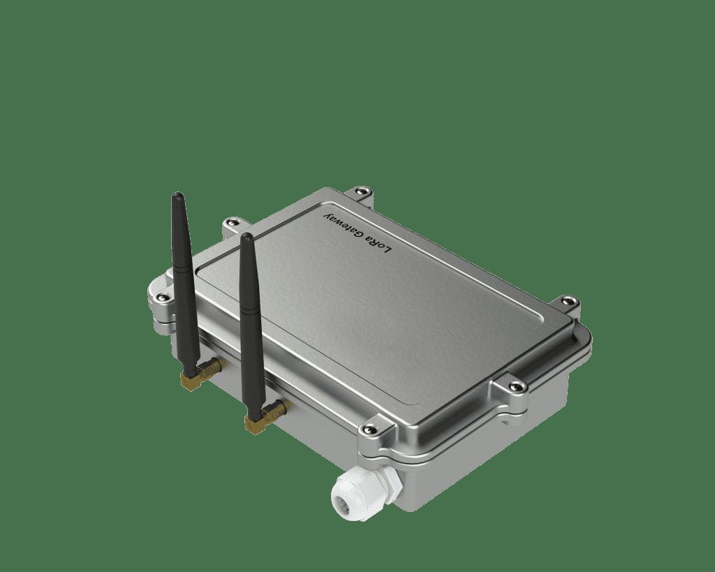 Lora Gateway ile sensörlerden gönderilen veriler toplanabilmektedir. RS-485 iletişim portu bulunmaktadır. Gateway birimi Ethernetli ve GSM'li ve Lokal olarak çalışabilmektedir, dâhili gömülü GSM haberleşme birimi, sim kart yuvası, harici anten çıkışı vardır, 15 Km kadar veri transferine izin vermektedir.