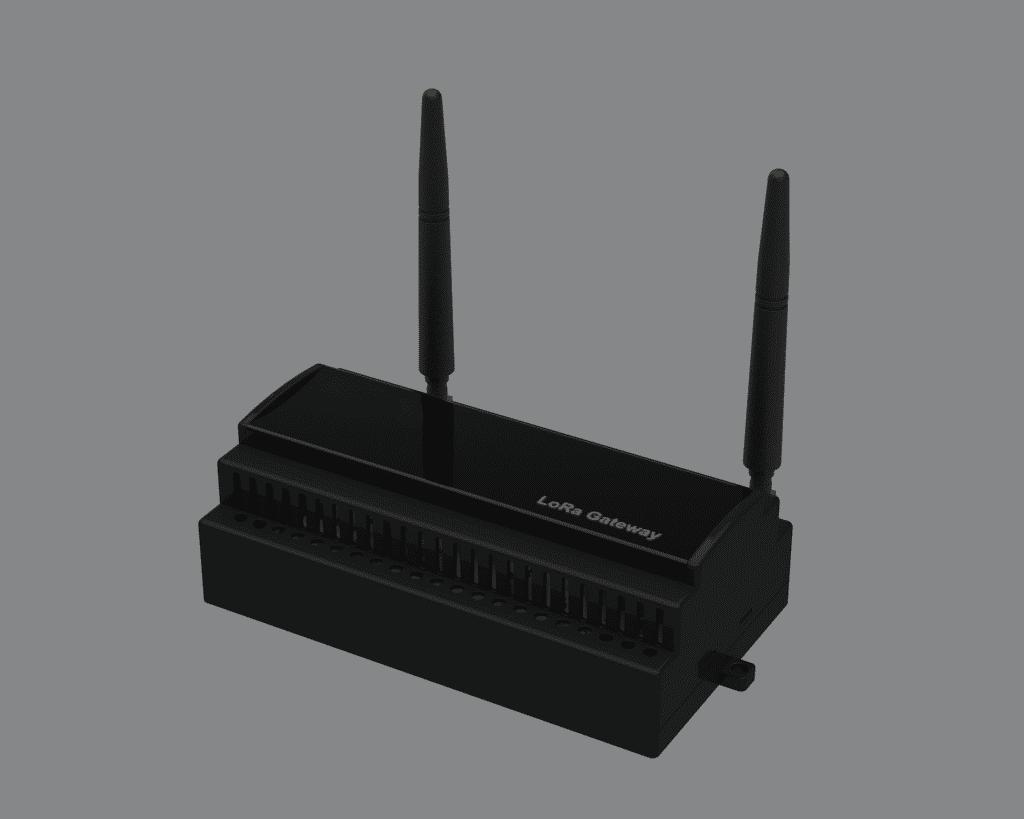 Lora Indor Gateway,dâhili gömülü GSM haberleşme birimi, sim kart yuvası, harici anten çıkışı vardır, Gateway birimi üzerinde bir ayar yapmaya gerek kalmadan cihazla ilgili tüm ayarlar internet sitesi üzerinden yapılamaktadır